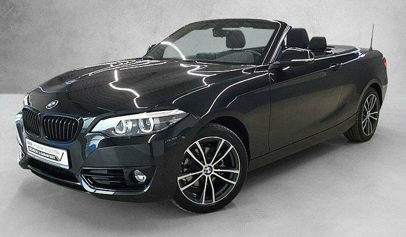BMW 218i A Cabrio Sport Line 17″ Leder Navi LED PDC